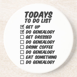 Genealogy To Do List Drink Coaster