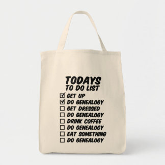 Genealogy To Do List Tote Bag