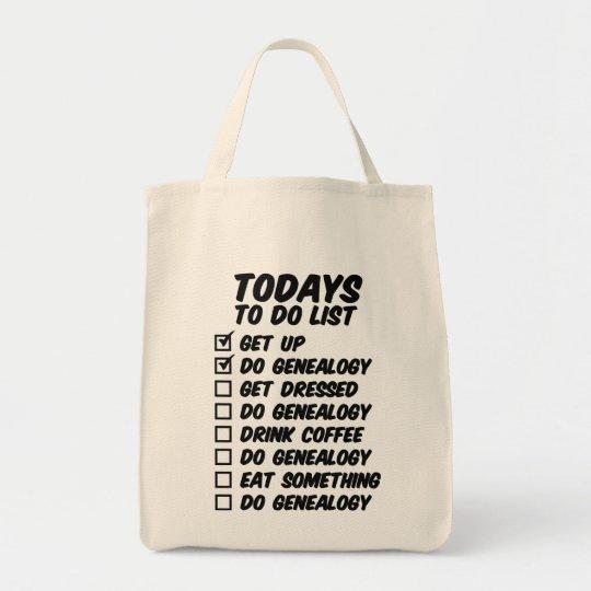 Genealogy To Do List Tote Bag