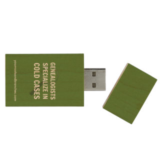 Genealogy USB Flash Drive (Green)