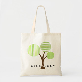 Genealogy Whimsical Patterned Family Tree Gift Tote Bag