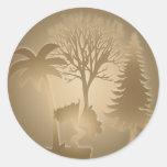 Genealogy World Trees Sticker