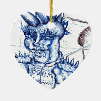 Generación de la condenación adorno de cerámica en forma de corazón