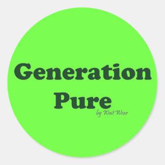 Generación pura pegatina redonda