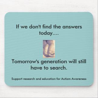 Generación y autismo de mañana alfombrillas de ratón