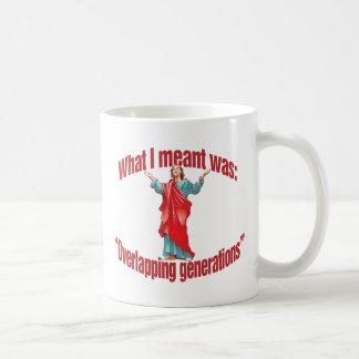 Generaciones traslapadas tazas de café