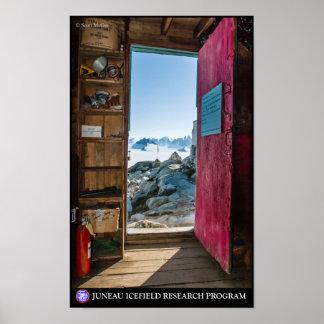 Generador vertido en el poster de Juneau Icefield Póster