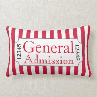 General Admission Movie Ticket Cinema Pillow
