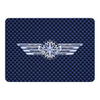 General Air Pilot Chrome Like Wings Compass Card