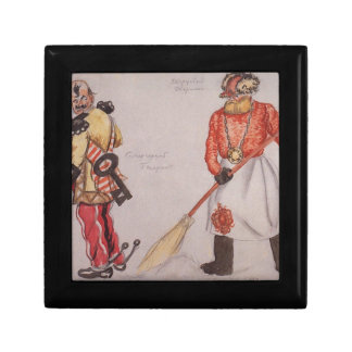 General and palace porter by Boris Kustodiev Keepsake Box