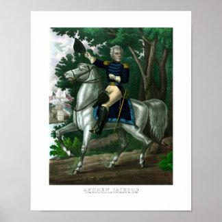 General Andrew Jackson a caballo Impresiones