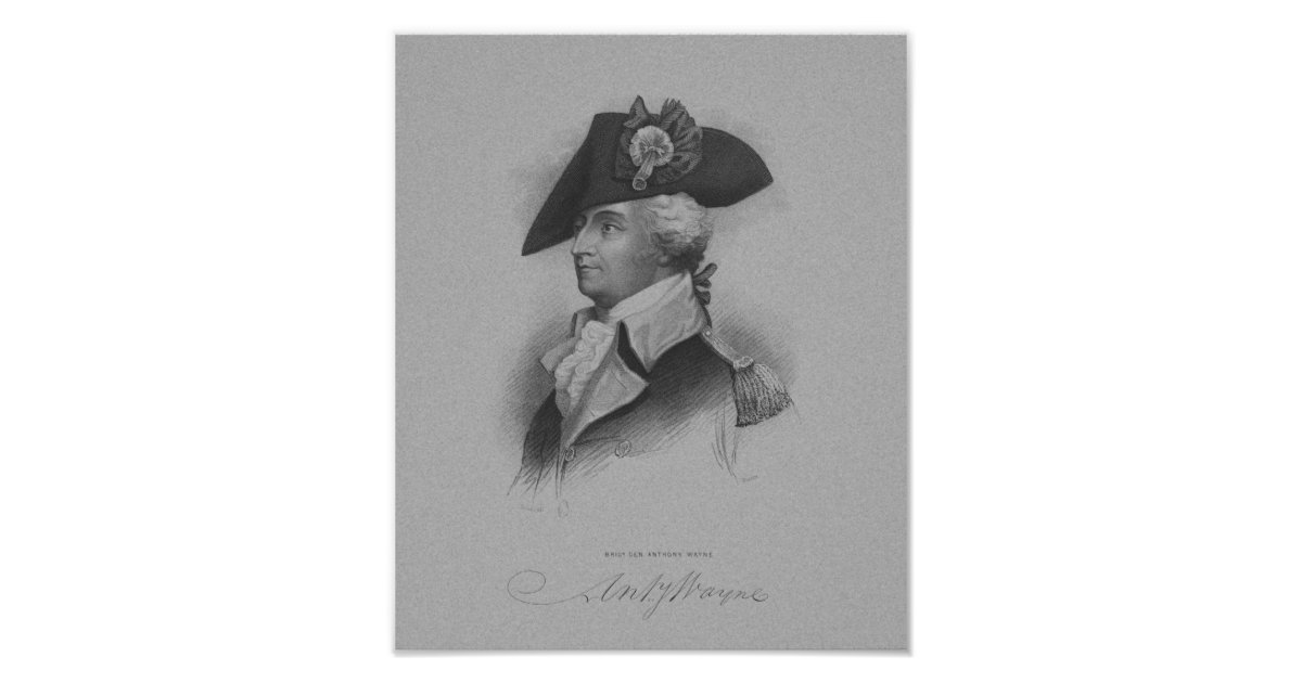 General Anthony Wayne American Revolution Poster