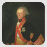 General Antonio Ricardos  c.1793-94 Square Sticker