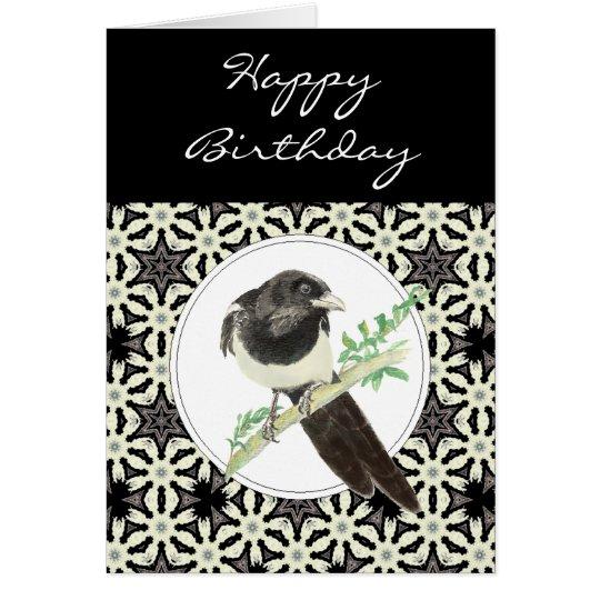General Birthday Magpie Bird, Nature Card