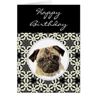 General Birthday Pug, Pet Dog Greeting Cards