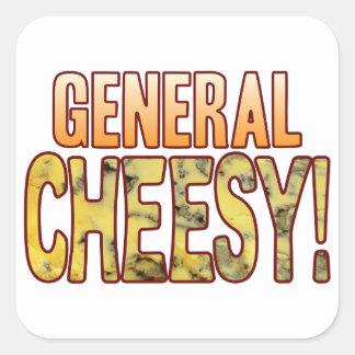 General Blue Cheesy Square Sticker