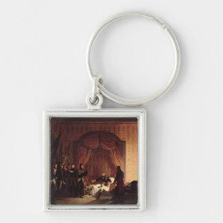 General Bonaparte  Captured Austro-Sardinian Silver-Colored Square Keychain