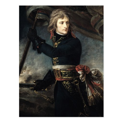 General Bonaparte en el puente en Arcole Postales