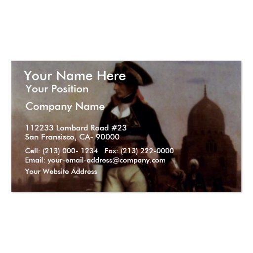 General Bonaparte In Cairo By Gérôme Jean-Léon (Be Double-Sided Standard Business Cards (Pack Of 100)