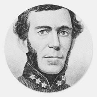 General Braxton Bragg Pegatinas Redondas