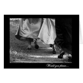 General Bridesmaid Request Card de los vestidos el Tarjeton