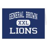 General Brown - Lions - High - Dexter New York Card