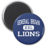 General Brown - Lions - High - Dexter New York Refrigerator Magnets