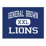 General Brown - Lions - High - Dexter New York Postcards