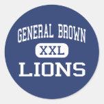 General Brown - Lions - High - Dexter New York Sticker