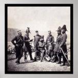 General Brown y su personal, guerra crimea 1855 Impresiones
