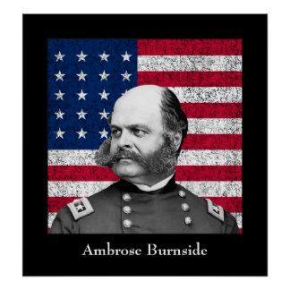General Burnside and The American Flag Poster
