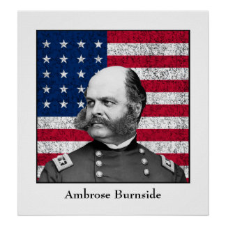 General Burnside and The Flag Poster