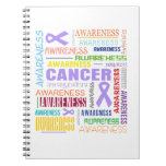 General Cancer Awareness Collage Notebook
