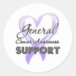 General Cancer Awareness de la ayuda Etiquetas Redondas