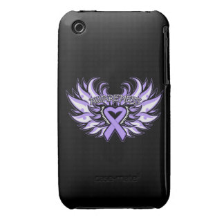General Cancer Awareness Heart Wings iPhone 3 Covers