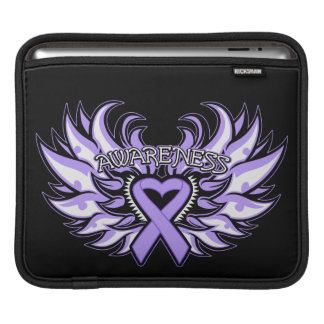 General Cancer Awareness Heart Wings iPad Sleeve