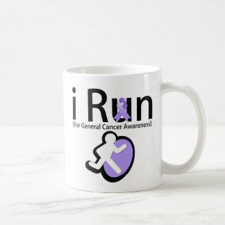 General Cancer Awareness I Run Classic White Coffee Mug