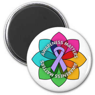 General Cancer Awareness Matters Petals 2 Inch Round Magnet