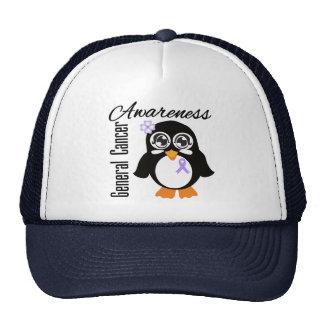 General Cancer Awareness Penguin Gorro De Camionero