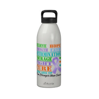 General Cancer Believe Strength Determination Botella De Agua