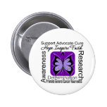 General Cancer Butterfly Inspirations Buttons