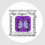 General Cancer Butterfly Inspirations Round Stickers