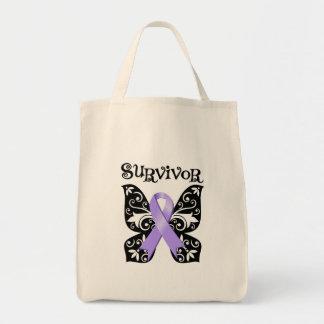 General Cancer Butterfly Survivor Tote Bag