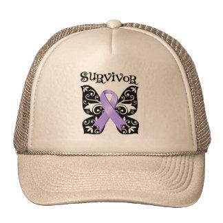 General Cancer Butterfly Survivor Trucker Hat