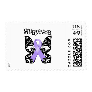 General Cancer Butterfly Survivor Stamps