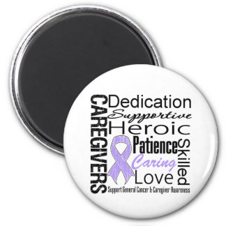 General Cancer Caregivers Collage 2 Inch Round Magnet