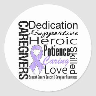 General Cancer Caregivers Collage Classic Round Sticker