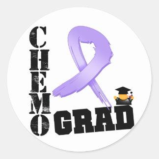 General Cancer Chemo Grad Pegatina Redonda