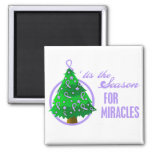 General Cancer Christmas Miracles Fridge Magnet