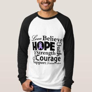General Cancer Collage de la esperanza Remera